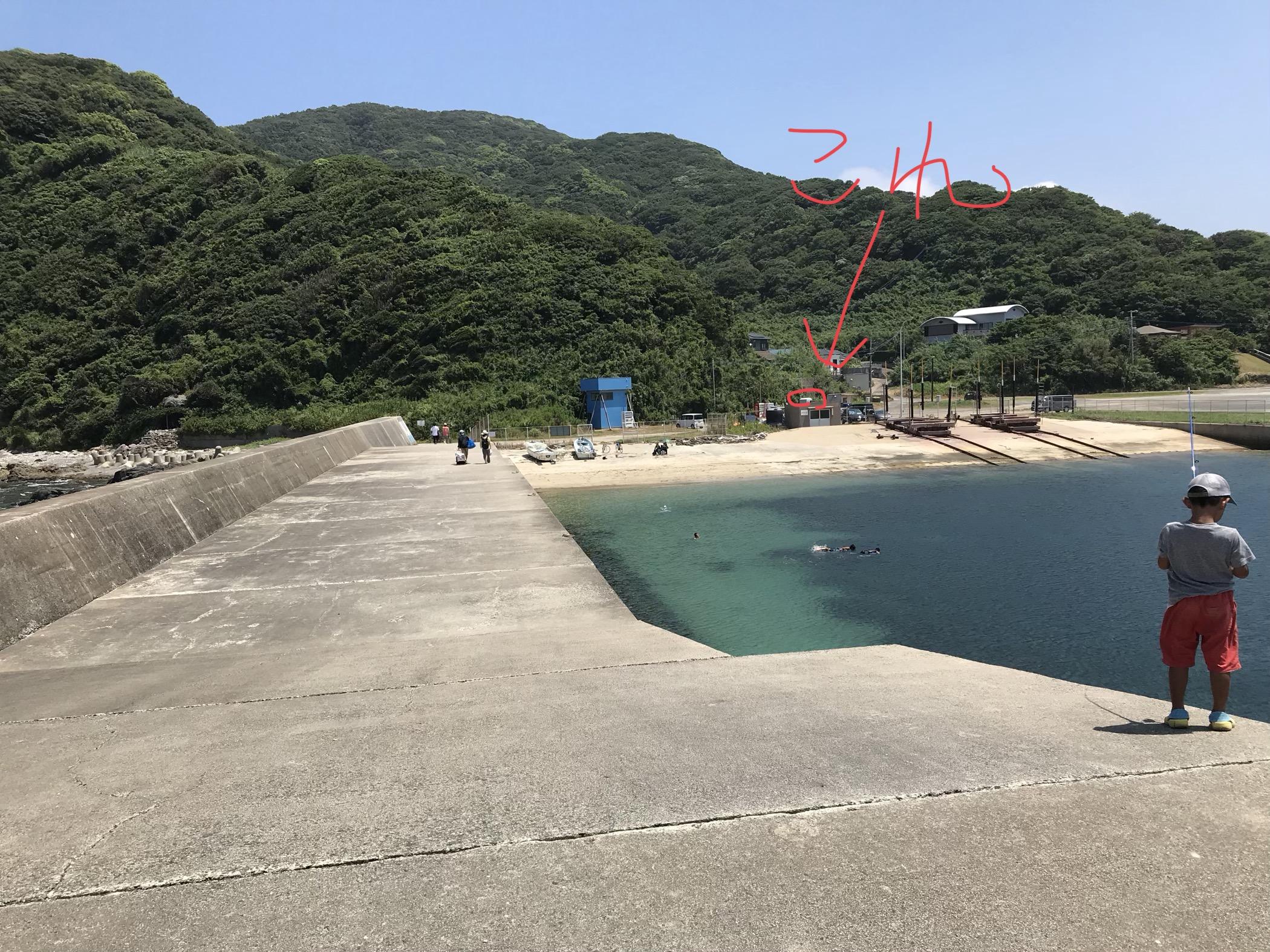 野北漁港トイレ